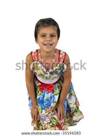 Close up and personal with beautiful young girl - stock photo