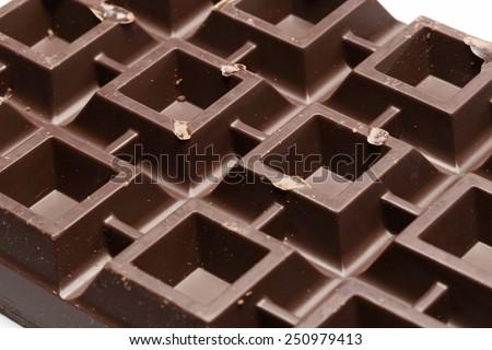 Close up at chocolate - stock photo