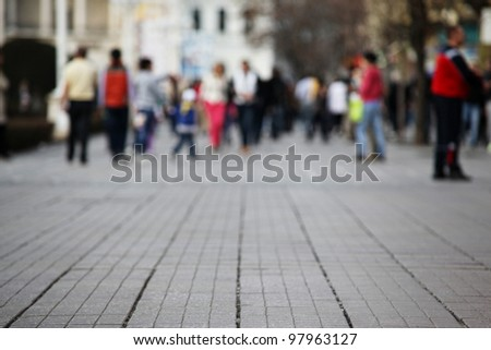 Close up Background Detail of a Street with Shallow Depth of Field - stock photo