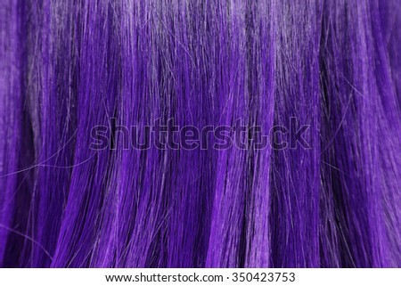 close-up background of purple hair color - stock photo