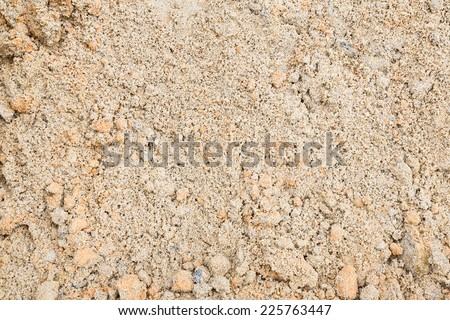 Close up beautiful sand texture in construction site - stock photo