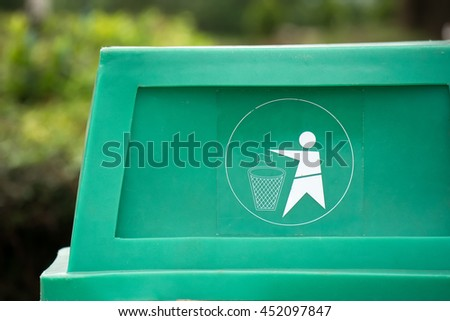 Close up bin - stock photo