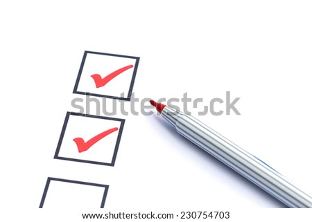 Close up blank checkbox - stock photo