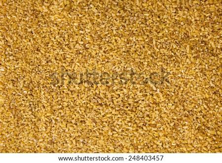 Close up Bulgur Wheat Background  - stock photo