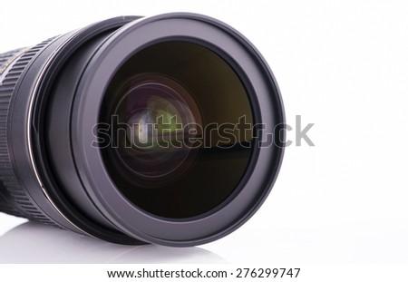 Close up camera lens - stock photo