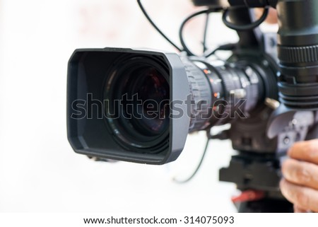 close up Camera working - stock photo