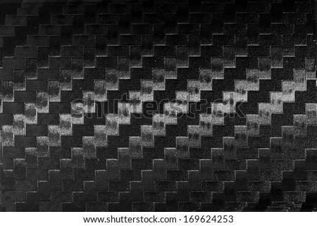 Close up carbon fiber textured - stock photo