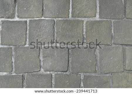 close up cobblestone pattern and texture - stock photo