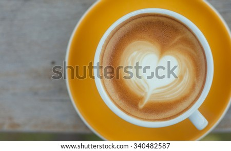 Close up Coffee latte art - stock photo