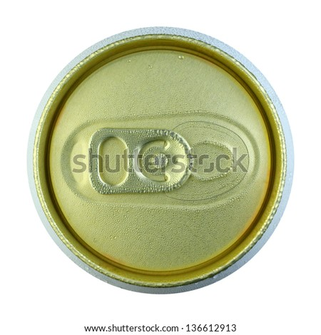 Close up cold can on white background - stock photo