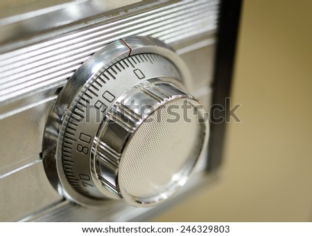 Close up combination safe lock - stock photo