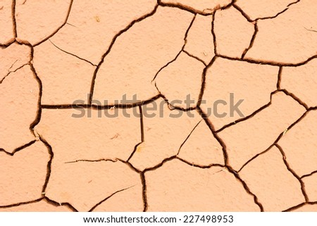 close-up cracked soil ground, drought land so long waterless. - stock photo