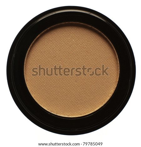 close up detail shot of womans make up compact poweder - stock photo