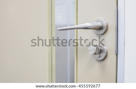 Close up door knob for opening/close  - stock photo