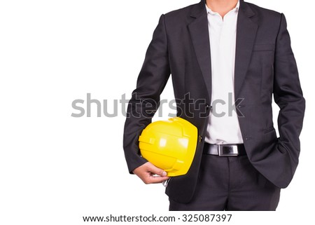 close up engineer in suit on isolate  - stock photo