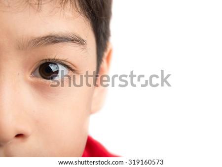 Close up eyes of boy  - stock photo