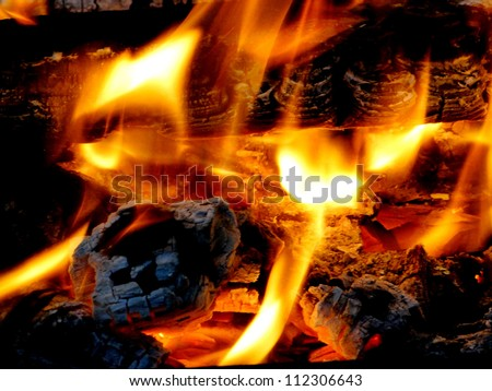 Close Up Fire - stock photo