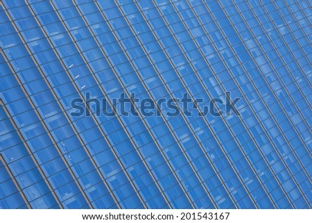 Close up glass building detail in manhattan - New York USA - stock photo