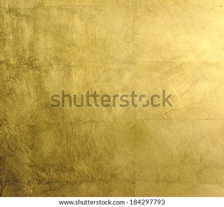 close-up gold background - stock photo