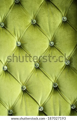 Close up Green sofa background in the hotel  - stock photo