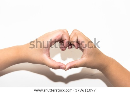 close up hand holding phone white screen isolated white. - stock photo