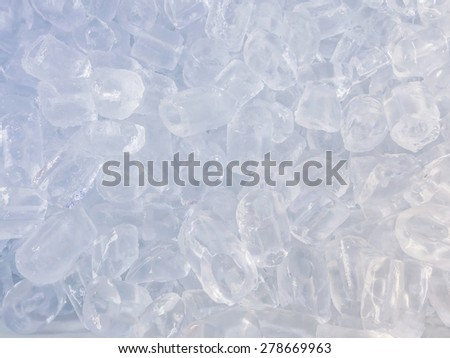 Close up ice cube for pattern and background - stock photo