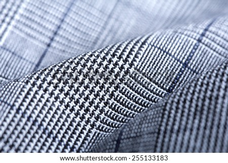 Close-up image of a tweed swatch. Elegant and classic style. - stock photo