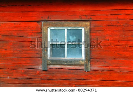 Close up Image of a vintage painted wood surface - stock photo