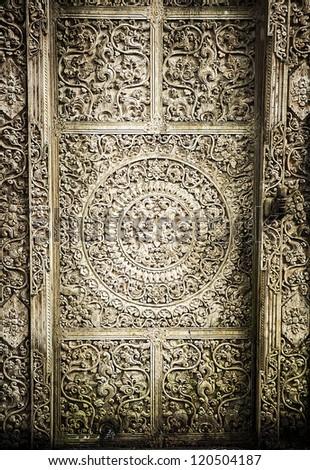 close-up image of ancient door - stock photo