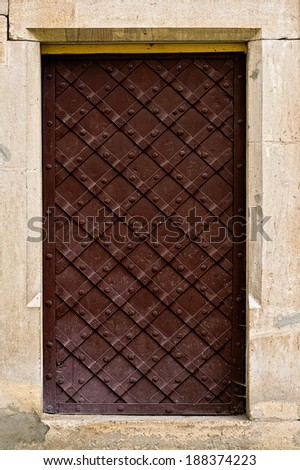 close-up image of ancient doors. - stock photo