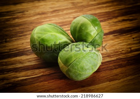 Close-up image of brussel sprouts - stock photo