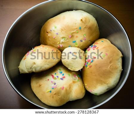 Close up image of freshly fancy bread/ Fancy bread/ fancy bread. Close up (fancy, bread, baker) - stock photo