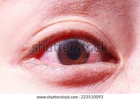 close up image of human eye - stock photo