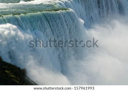 Close-up image of Niagara Falls viewed from US side - stock photo