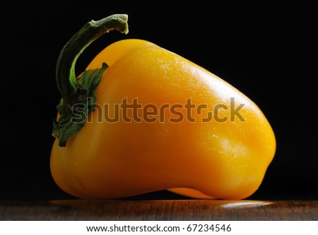 Close up image of pepper - stock photo