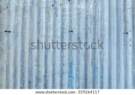 Close up image of Rusty corrugated metal - stock photo