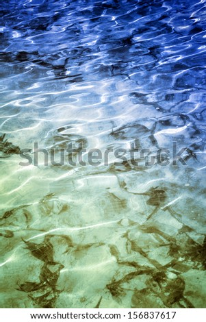Close-up image of water waves - stock photo