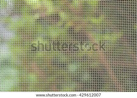 CLOSE UP IMAGE OF WINDOW SCREEN  - stock photo