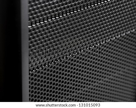 Close up Iron Perforated Sheet - stock photo