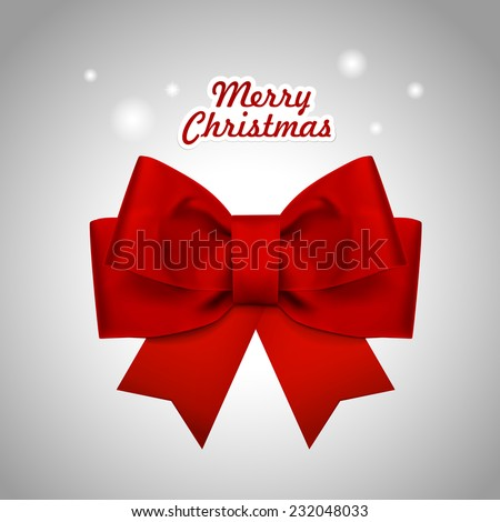 close-up look at Christmas red ribbon over white background - stock photo