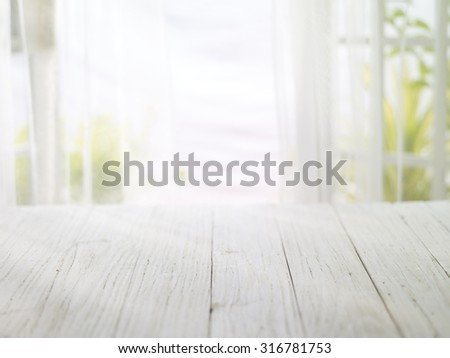 close-up look at wooden with morning bright - stock photo