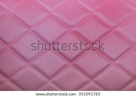 Close up  luxury buttoned leather. - stock photo