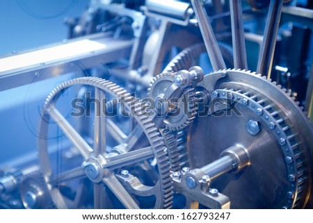 Close up Machine Gear cog, Business Teamwork  - stock photo