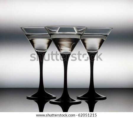 Close up Martini glass - stock photo