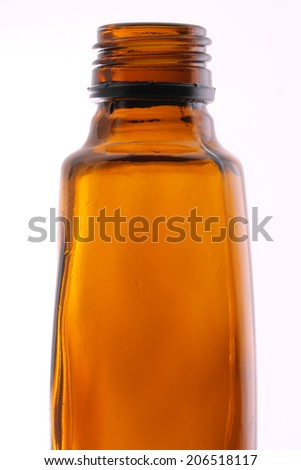 Close up medical bottle isolated on whote - stock photo