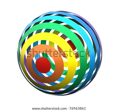 Close up of a abstract colorful rainbow  sphere - stock photo