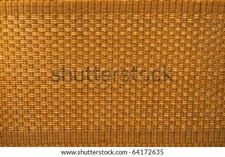 close up of a bamboo basket - stock photo
