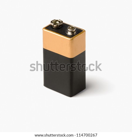 Close-up of a battery - stock photo