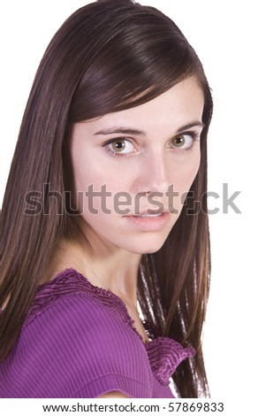 Close up of a Beautiful Girl - stock photo