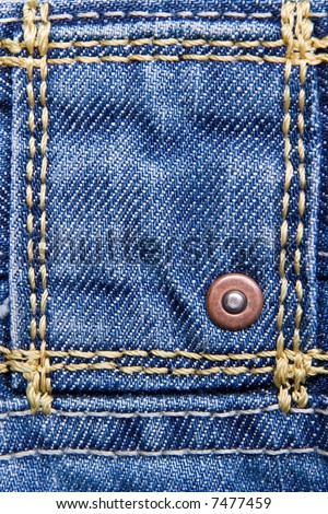 close up of a blue jeans - stock photo